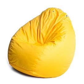 Кресло мешок груша с внутренним чехлом   Ткань Oxford L (Высота 90 см, ширина 60 см), Жолтый