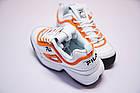 Женские кроссовки Fila Disruptor 2 White Orange (Фила Дисраптор 2) белые, фото 7