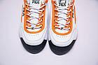 Женские кроссовки Fila Disruptor 2 White Orange (Фила Дисраптор 2) белые, фото 8