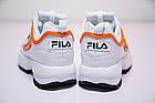 Женские кроссовки Fila Disruptor 2 White Orange (Фила Дисраптор 2) белые, фото 9