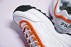 Женские кроссовки Fila Disruptor 2 White Orange (Фила Дисраптор 2) белые, фото 10