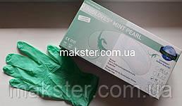 Перчатки нитриловые Unigloves мятный жемчуг 100 шт в уп