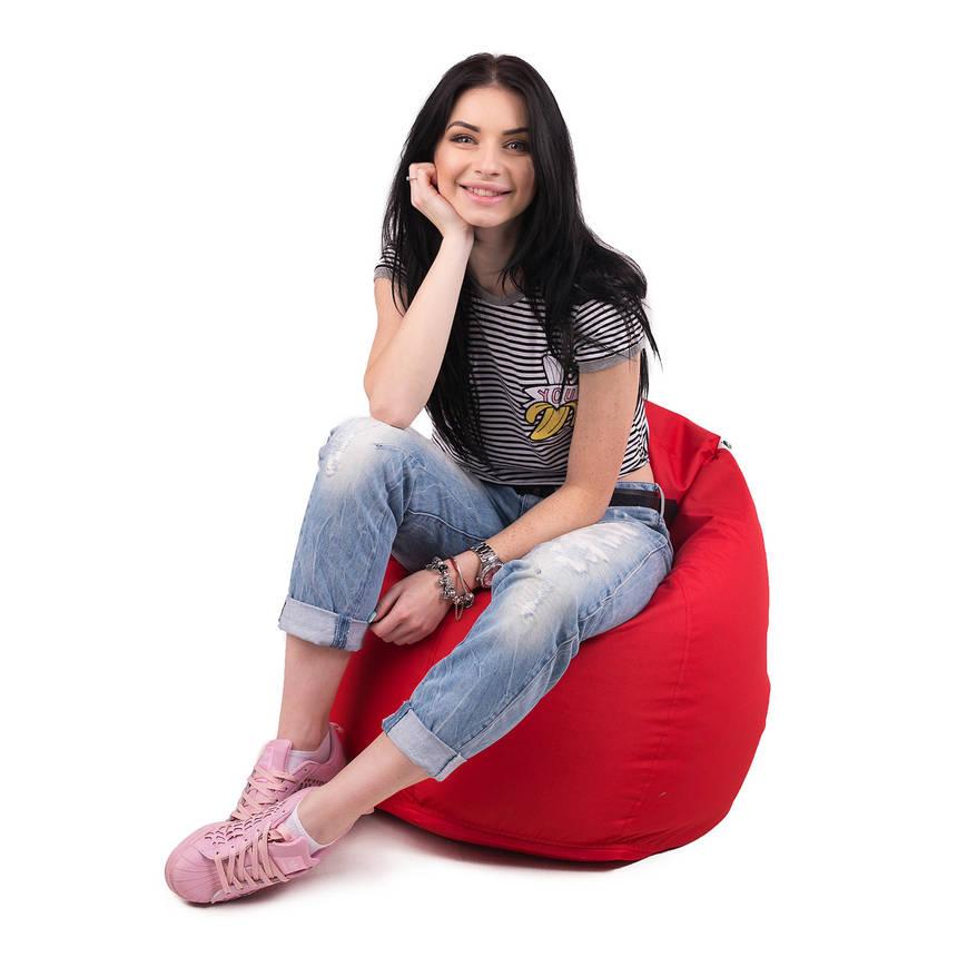 Кресло мешок груша   ткань Oxford L, Красный, фото 2