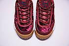 Женские кроссовки Fila Disruptor 2 Velvet Burgundy (Фила Дисраптор 2) бордовые, фото 8