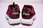 Женские кроссовки Fila Disruptor 2 Velvet Burgundy (Фила Дисраптор 2) бордовые, фото 9