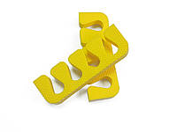 Растопырки для педикюра (разделители пальцев ног) Eva-Line 200 шт. Желтый