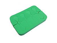 Растопырки для педикюра (разделители пальцев ног) Eva-Line 200 шт. Зеленый