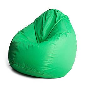 Кресло мешок груша с внутренним чехлом   Ткань Oxford L (Высота 90 см, ширина 60 см), Ирландский зеленый