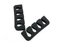 Растопырки для педикюра (разделители пальцев ног) Eva-Line 200 шт. Черный