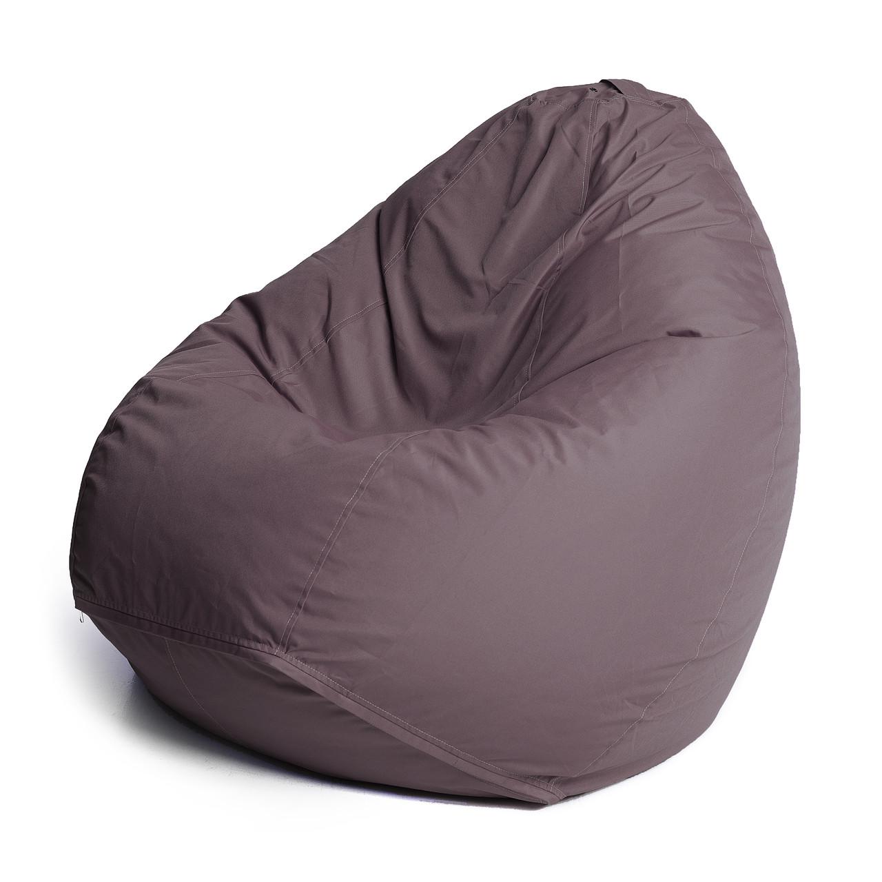 Кресло мешок груша с внутренним чехлом | Ткань Oxford L (Высота 90 см, ширина 60 см), Коричневый