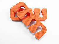 Растопырки для педикюра (разделители пальцев ног) Eva-Line 200 шт. Оранжевый