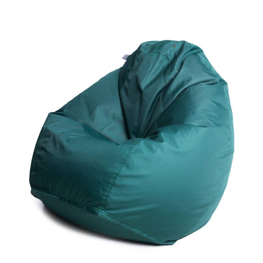 Кресло мешок груша с внутренним чехлом | Ткань Oxford XL (Высота 110 см, ширина 80 см), Зеленый, фото 2