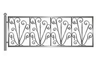 Кованая ритуальная оградка 4