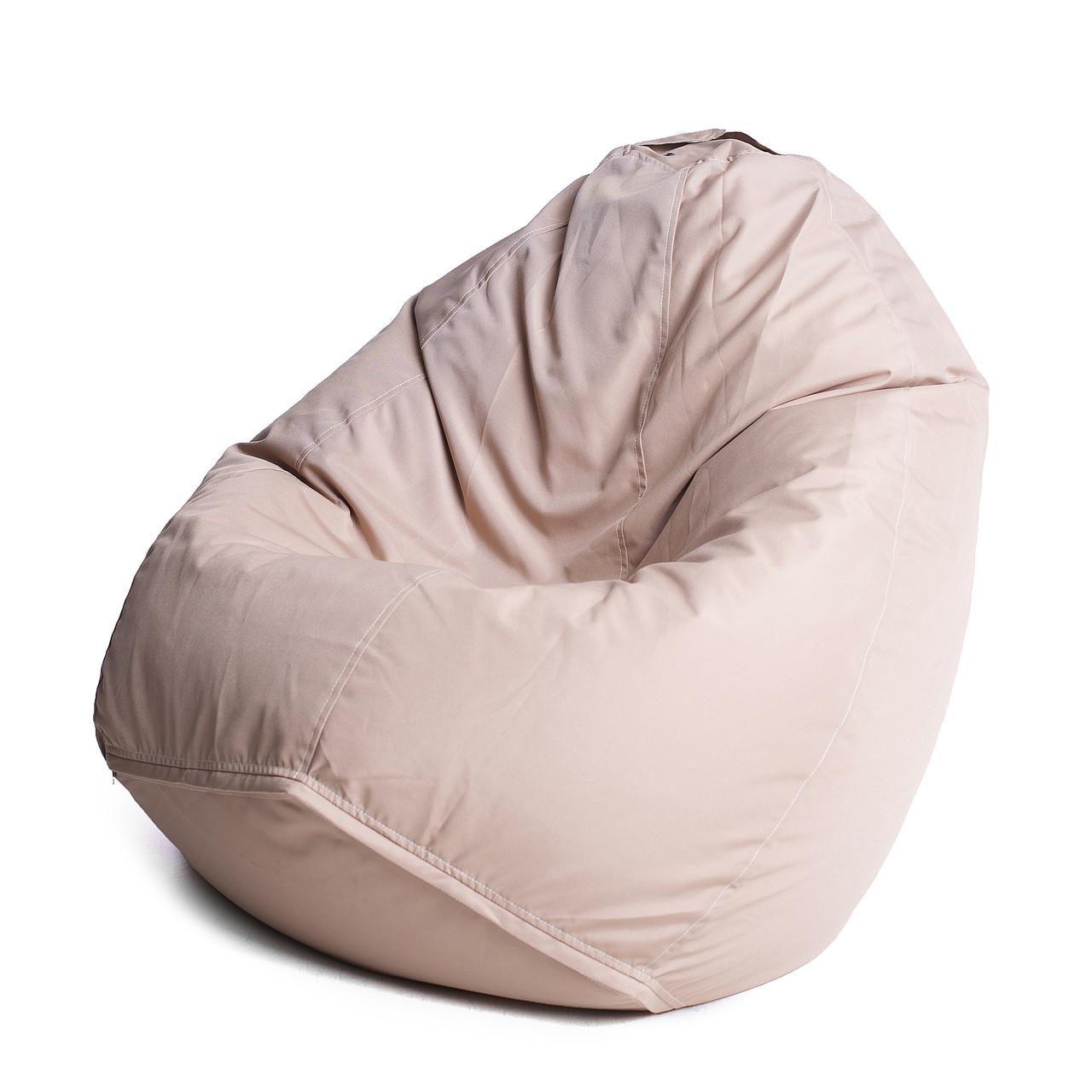 Кресло мешок груша с внутренним чехлом | Ткань Oxford XL (Высота 110 см, ширина 80 см), Бежевый