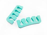 Растопырки для педикюра (разделители пальцев ног) Eva-Line 200 шт. Бирюзовый