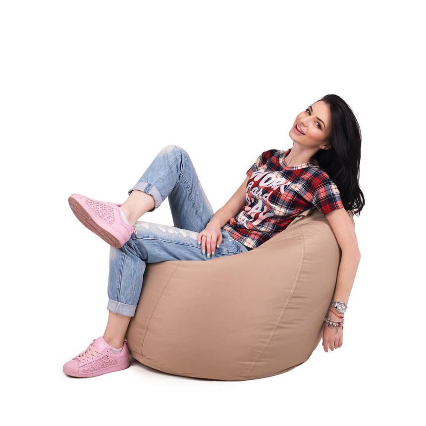 Кресло мешок груша с внутренним чехлом | Ткань Oxford XL (Высота 110 см, ширина 80 см), Бежевый, фото 2