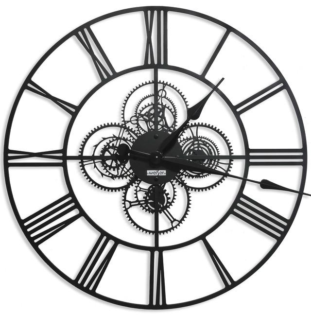 Настенные часы из металла в стиле лофт