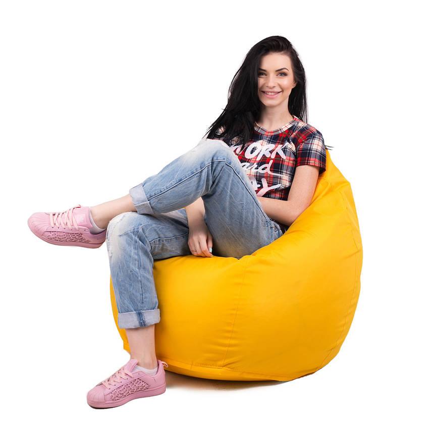 Кресло мешок груша с внутренним чехлом | Ткань Oxford XL (Высота 110 см, ширина 80 см), Жолтый, фото 2