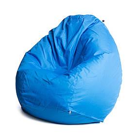 Кресло мешок груша с внутренним чехлом   Ткань Oxford XL (Высота 110 см, ширина 80 см), Голубой