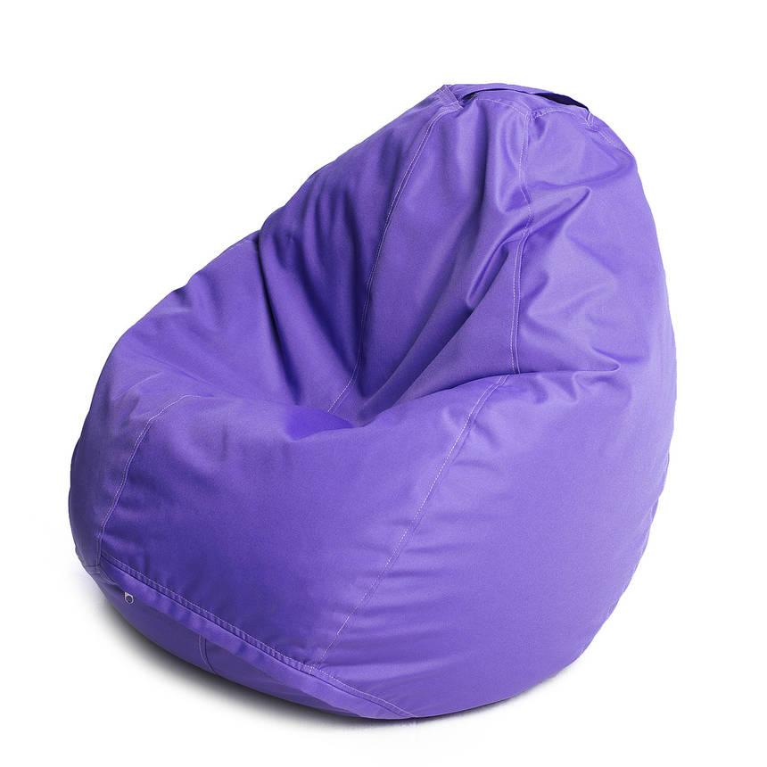 Кресло мешок груша с внутренним чехлом | Ткань Oxford XL (Высота 110 см, ширина 80 см), Фиолетовый, фото 2