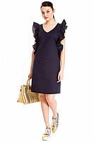 Женское платье с рюшами normcore