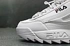 Женские кроссовки Fila Disruptor 2 White (Фила Дисраптор) белые, фото 7