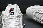 Женские кроссовки Fila Disruptor 2 White (Фила Дисраптор) белые, фото 10