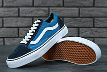 Мужские кеды Vans Old Skool Blue/Black, мужские кеды, ванс . ТОП Реплика ААА класса., фото 3