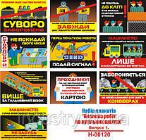 """""""Безпека робіт у вугільних шахтах. Випуск 1"""" (10 плакатів, ф. А3)"""