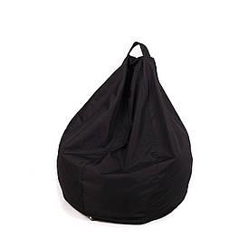 Кресло мешок груша с внутренним чехлом   Ткань Oxford XL (Высота 110 см, ширина 80 см), Черный