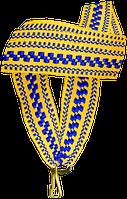 """Стрічка медалі """"жовто-синій орнамент"""" 20 мм"""