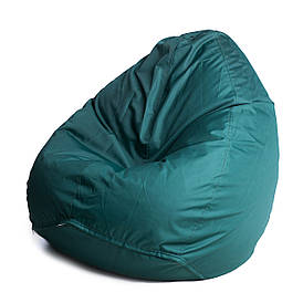 Кресло мешок груша с внутренним чехлом   Ткань Oxford XXL (Высота 130 см, ширина 90 см), Зеленый