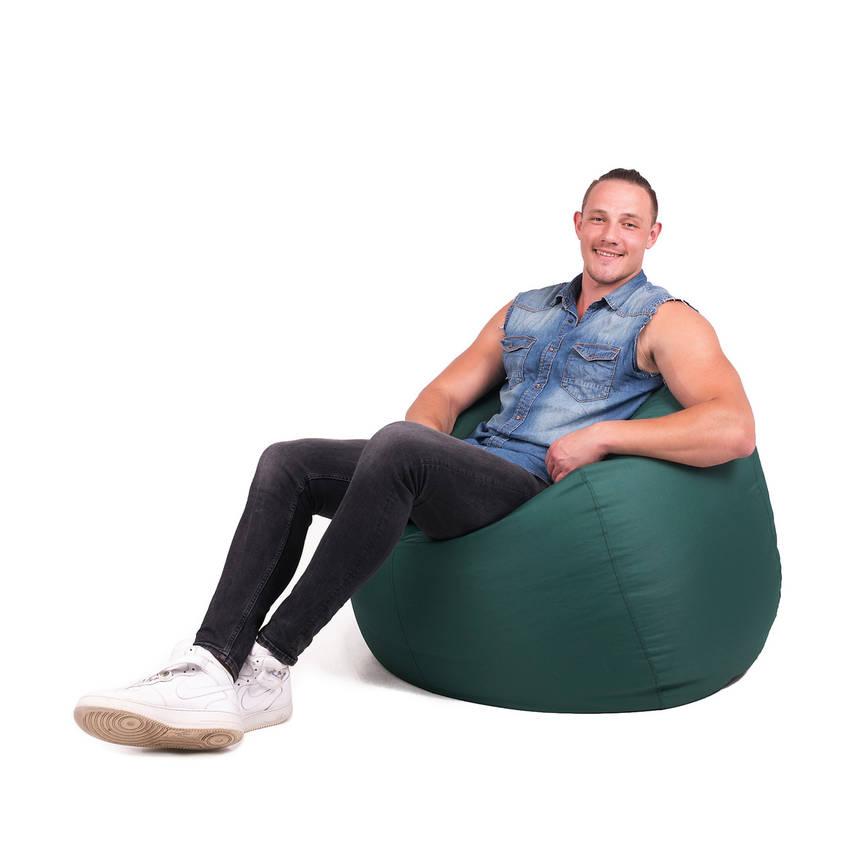 Кресло мешок груша с внутренним чехлом | Ткань Oxford XXL (Высота 130 см, ширина 90 см), Зеленый, фото 2