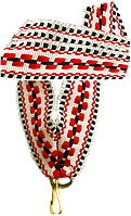 """Стрічка медалі """"червоно-чорно-білий орнамент"""" 20 мм"""