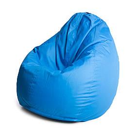 Кресло мешок груша с внутренним чехлом   Ткань Oxford XXL (Высота 130 см, ширина 90 см), Голубой