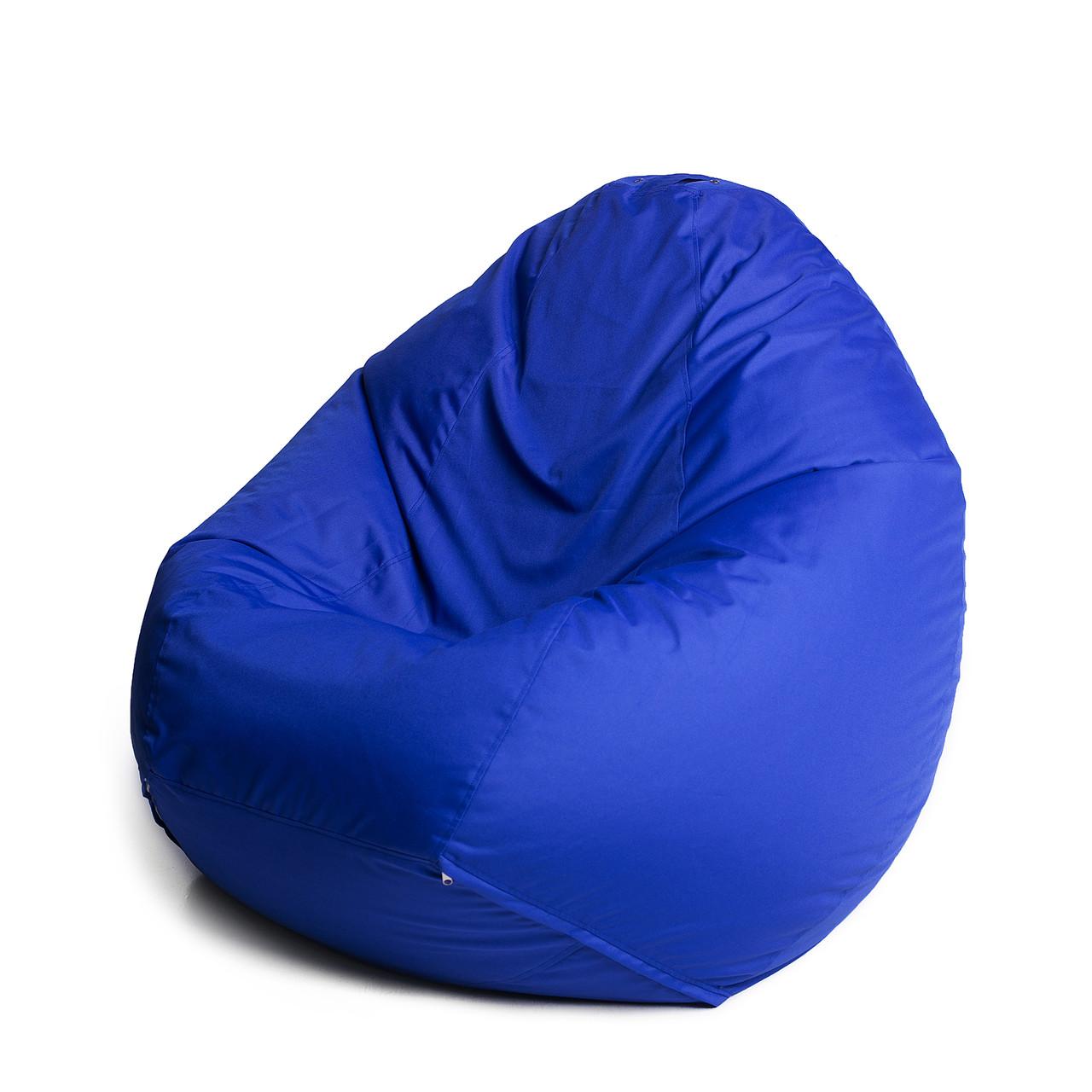 Кресло мешок груша с внутренним чехлом   Ткань Oxford XXL (Высота 130 см, ширина 90 см), Синий