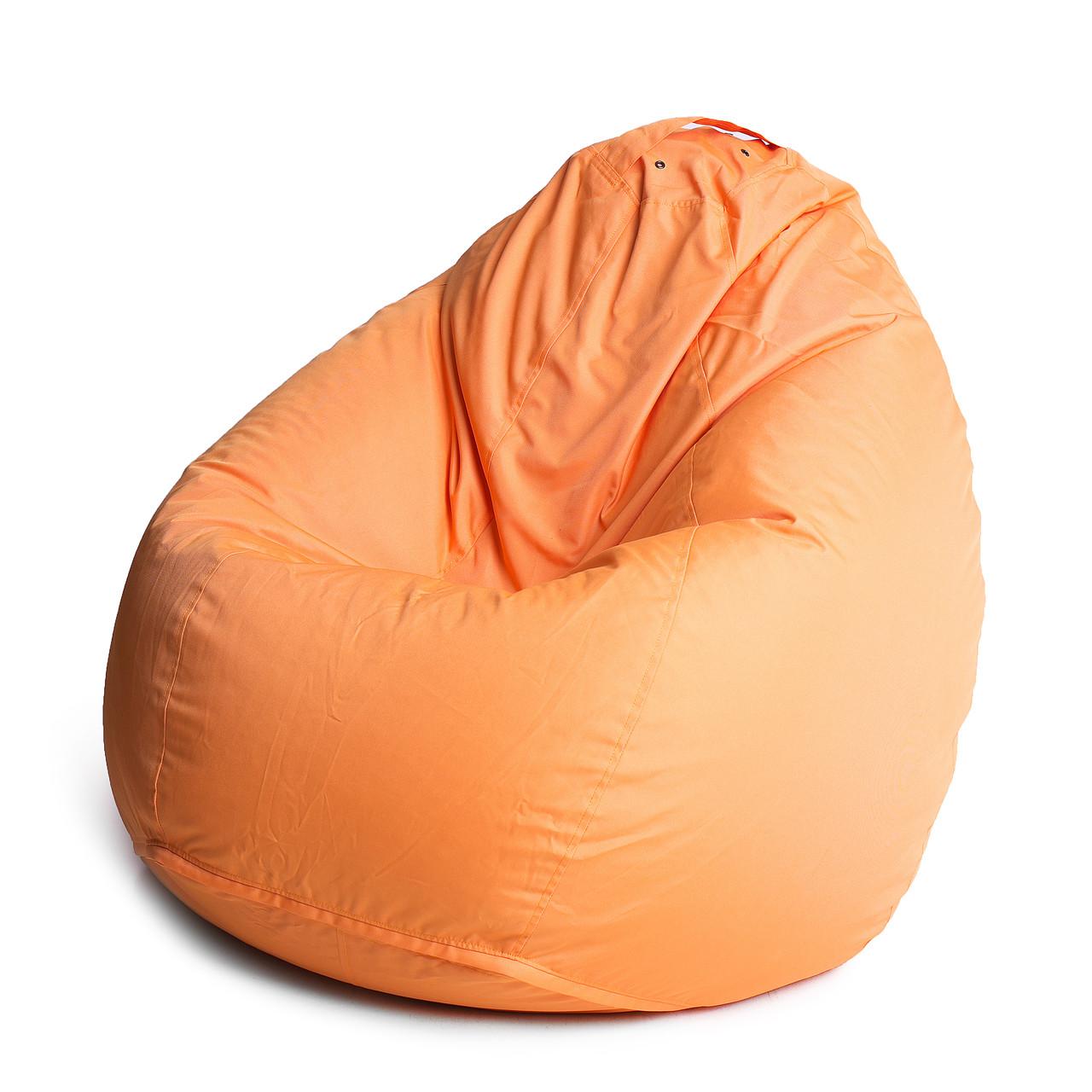 Кресло мешок груша с внутренним чехлом | Ткань Oxford XXL (Высота 130 см, ширина 90 см), Оранжевый