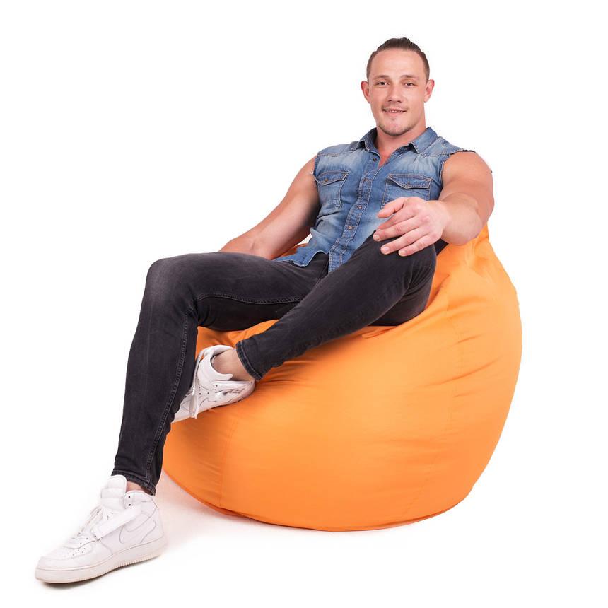 Кресло мешок груша с внутренним чехлом | Ткань Oxford XXL (Высота 130 см, ширина 90 см), Оранжевый, фото 2