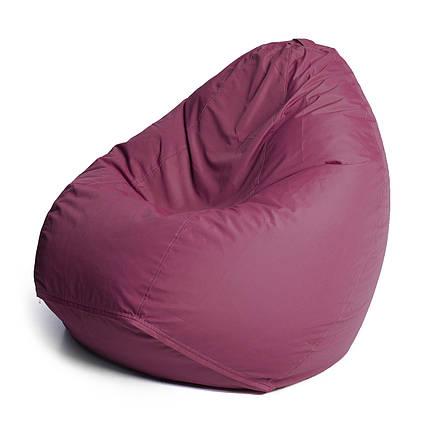 Кресло мешок груша | ткань Oxford XXL, Бордовый, фото 2