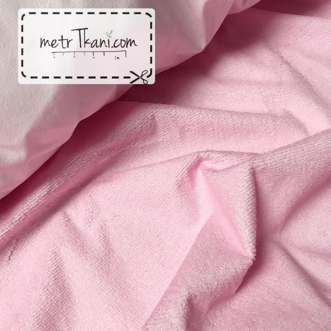 Непромокаемая ткань для пеленок ,махровая ткань, розвого цвета 180г/м/2 № МНП-3-3