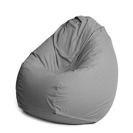 Кресло мешок груша с внутренним чехлом | Ткань Oxford XXL (Высота 130 см, ширина 90 см), Серый, фото 2
