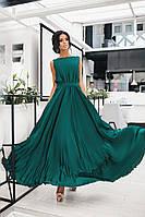 Женское невероятно красивое вечернее платье в пол из шелка (42-48р) 77П1030
