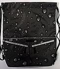 Рюкзак мешок спортивный Капля чёрный, фото 2