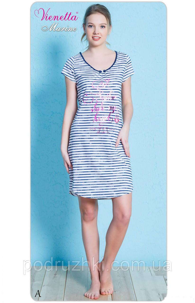 Женское домашнее платье ночная сорочка (туника) VIENETTA