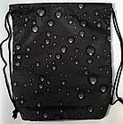 Рюкзак мешок спортивный Капля чёрный, фото 3