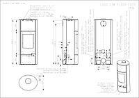Печь-камин  Lugo W 03 с ВТ (металл)-водяной контур