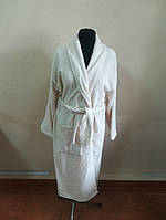 Махровый мужской халат кремовый цвета  (L)