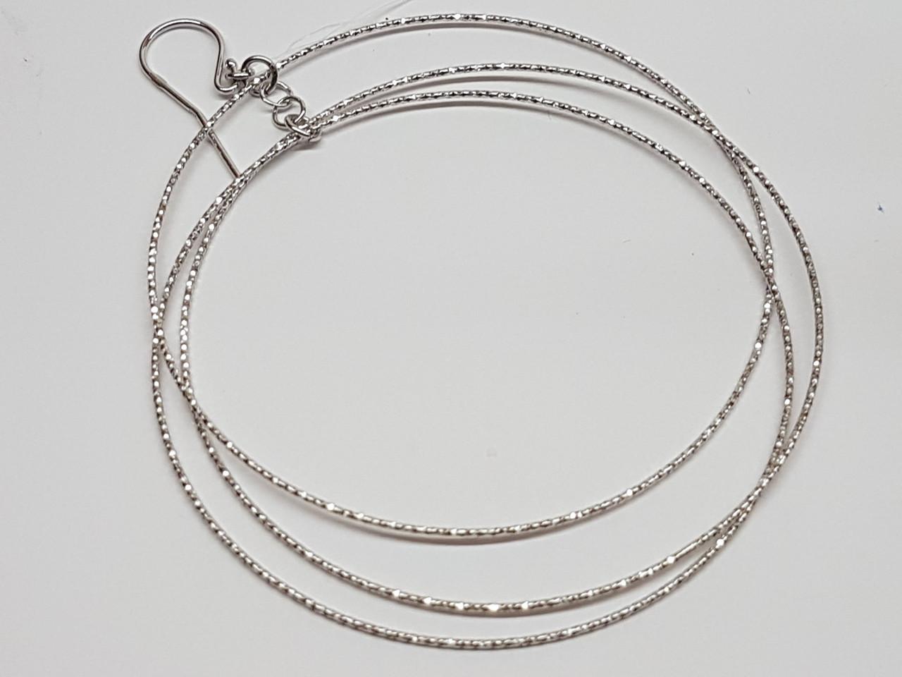 Срібні сережки з алмазною гранню. Артикул 902-00986