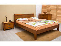 Кровать Сити без изножья с интарсией 200*120 бук Олимп, фото 1