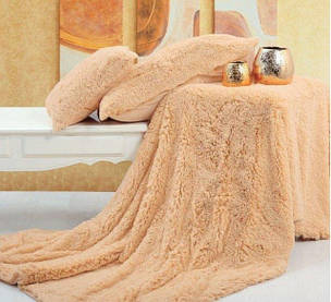 Меховые покрывала Koloco Milk Blanket